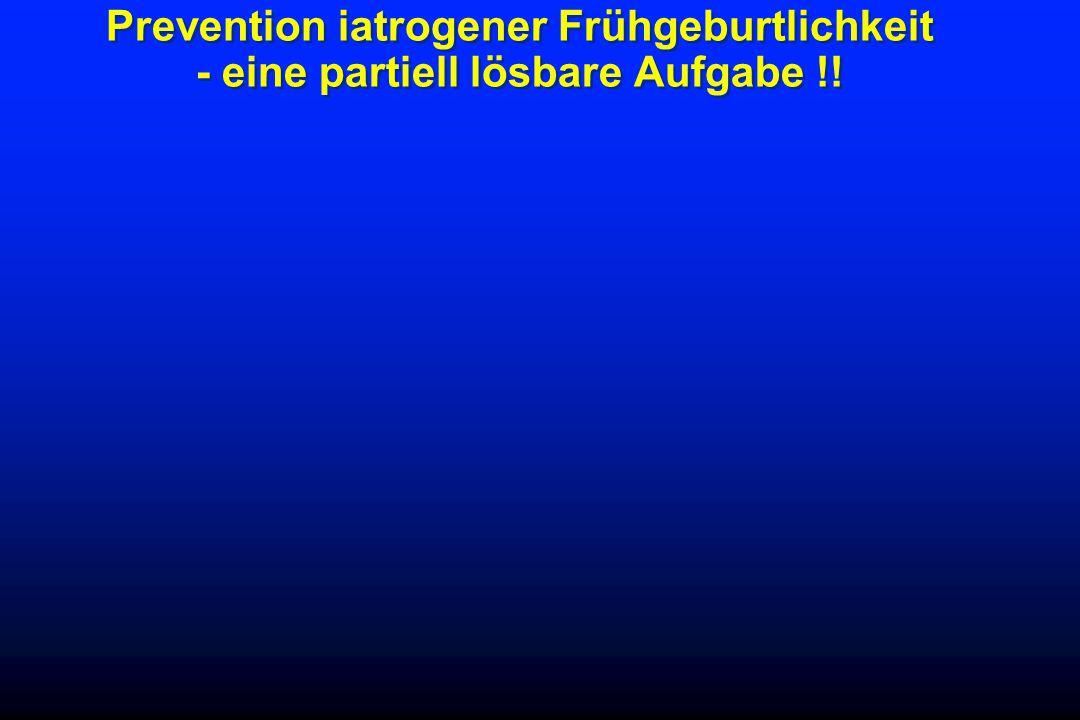Prevention iatrogener Frühgeburtlichkeit - eine partiell lösbare Aufgabe !!
