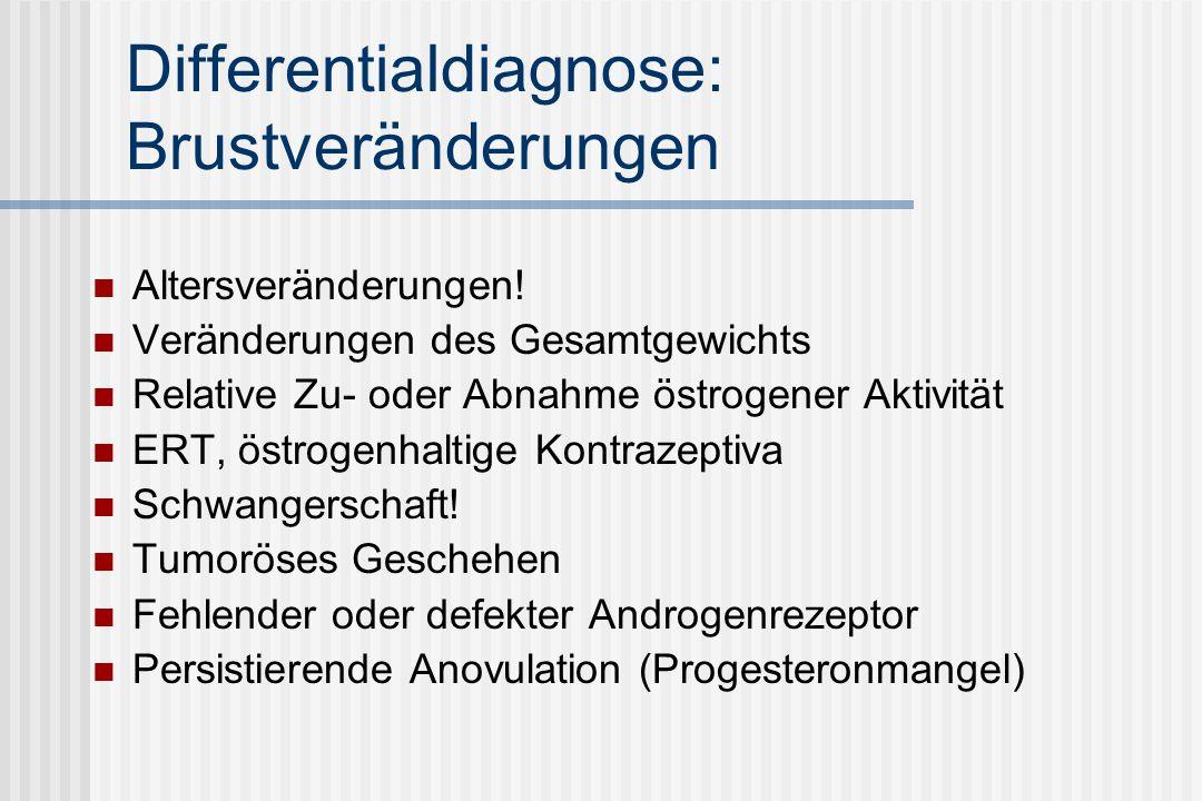 Differentialdiagnose: Brustveränderungen Altersveränderungen.