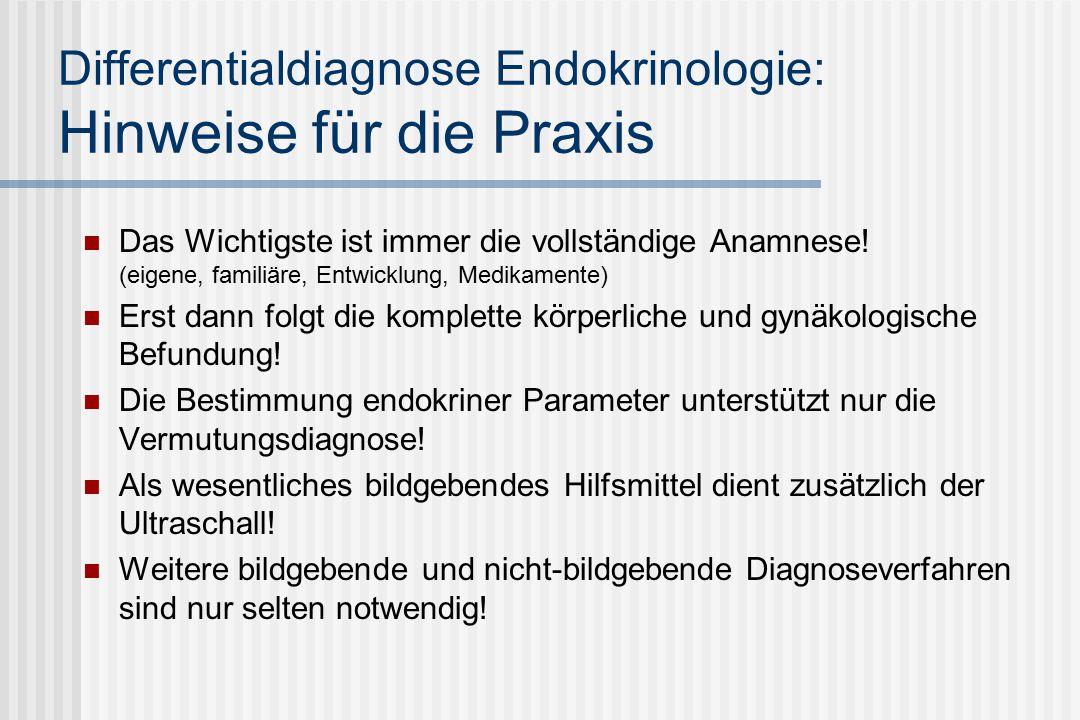 Differentialdiagnose Endokrinologie: Hinweise für die Praxis Das Wichtigste ist immer die vollständige Anamnese.