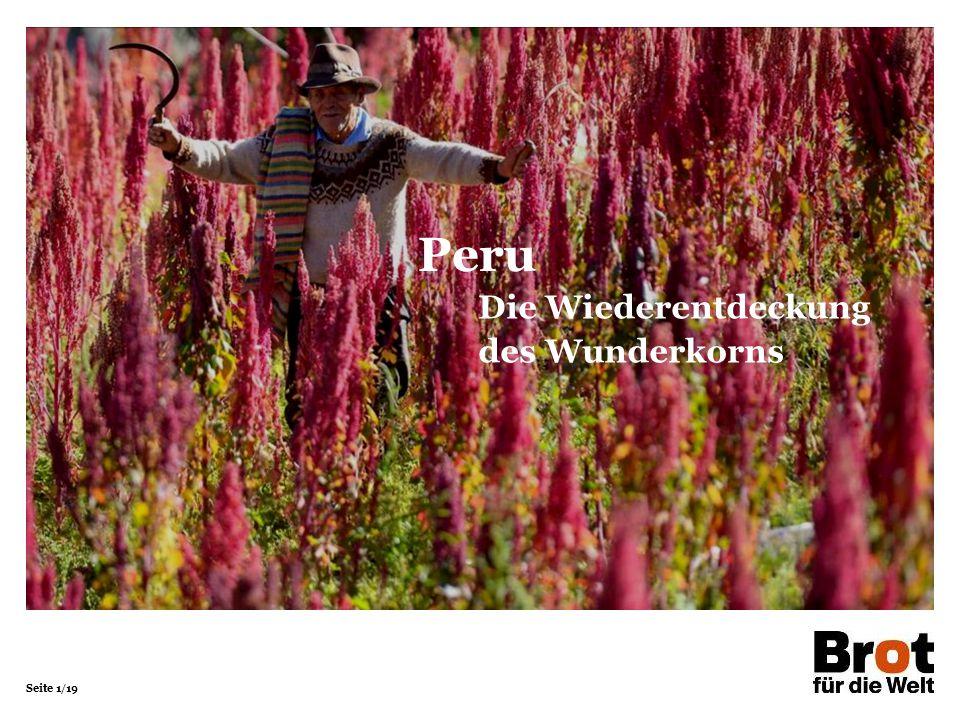 Seite 1/19 Die Wiederentdeckung des Wunderkorns Peru