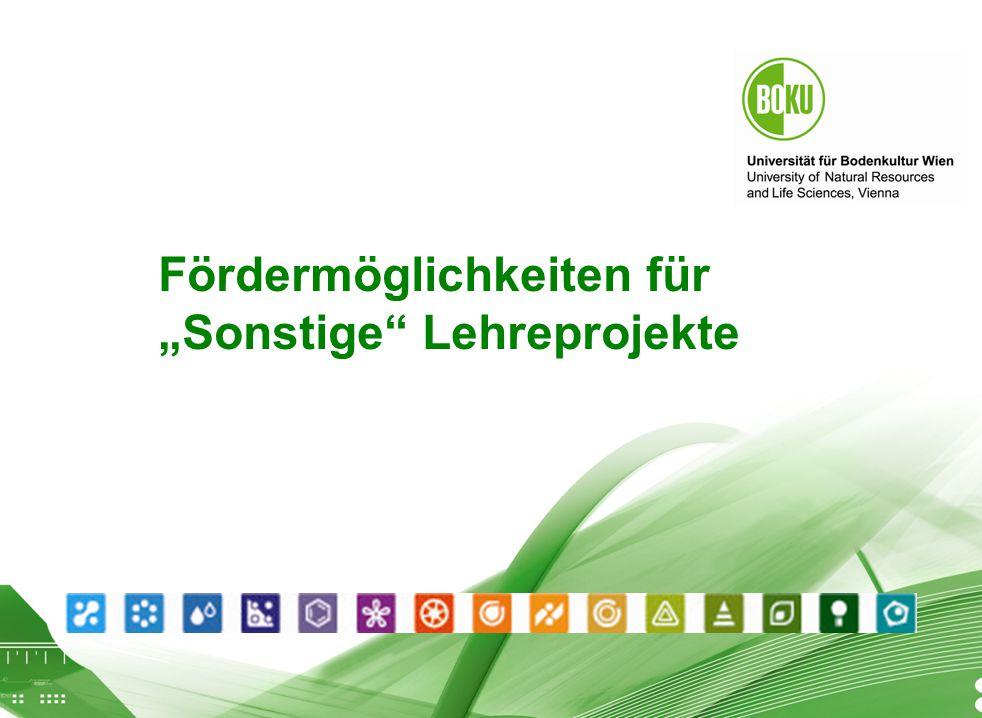 """Workshop Finanzierung von Lehreprojekten Fördermöglichkeiten für """"Sonstige"""" Lehreprojekte"""