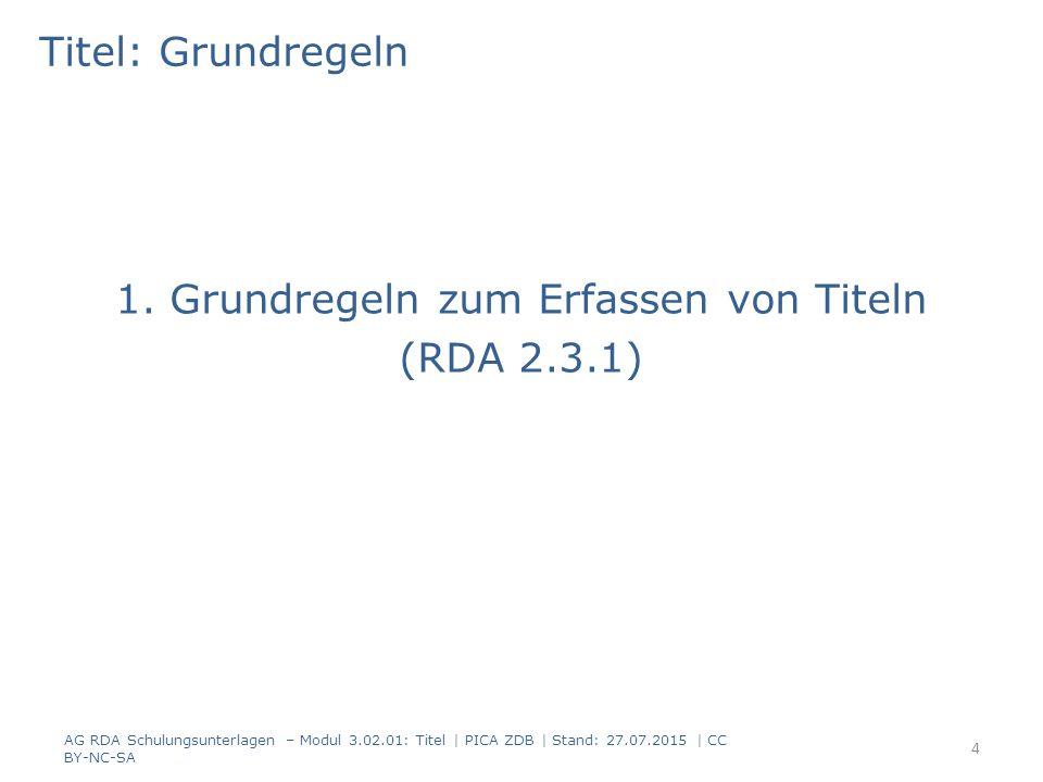 Titel: Grundregeln -1- Bezeichnen eine Ressource: Wort, Zeichen oder Gruppe von Wörtern/Zeichen (RDA 2.3.1.1) – Mottos, Segensformeln, Widmungen u.