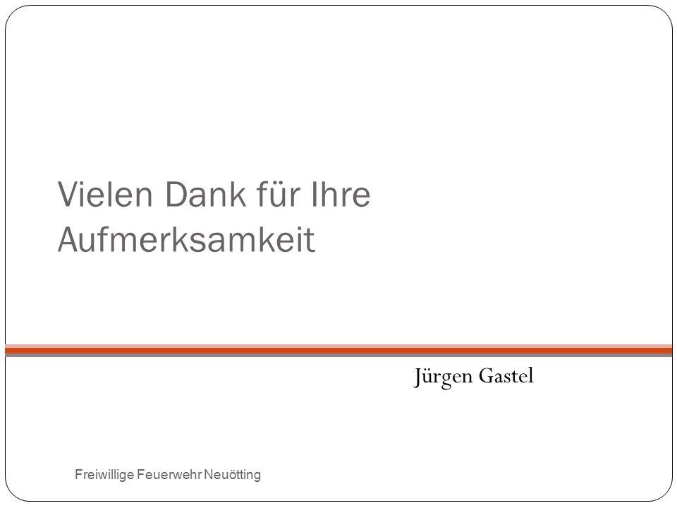Vielen Dank für Ihre Aufmerksamkeit Jürgen Gastel Freiwillige Feuerwehr Neuötting