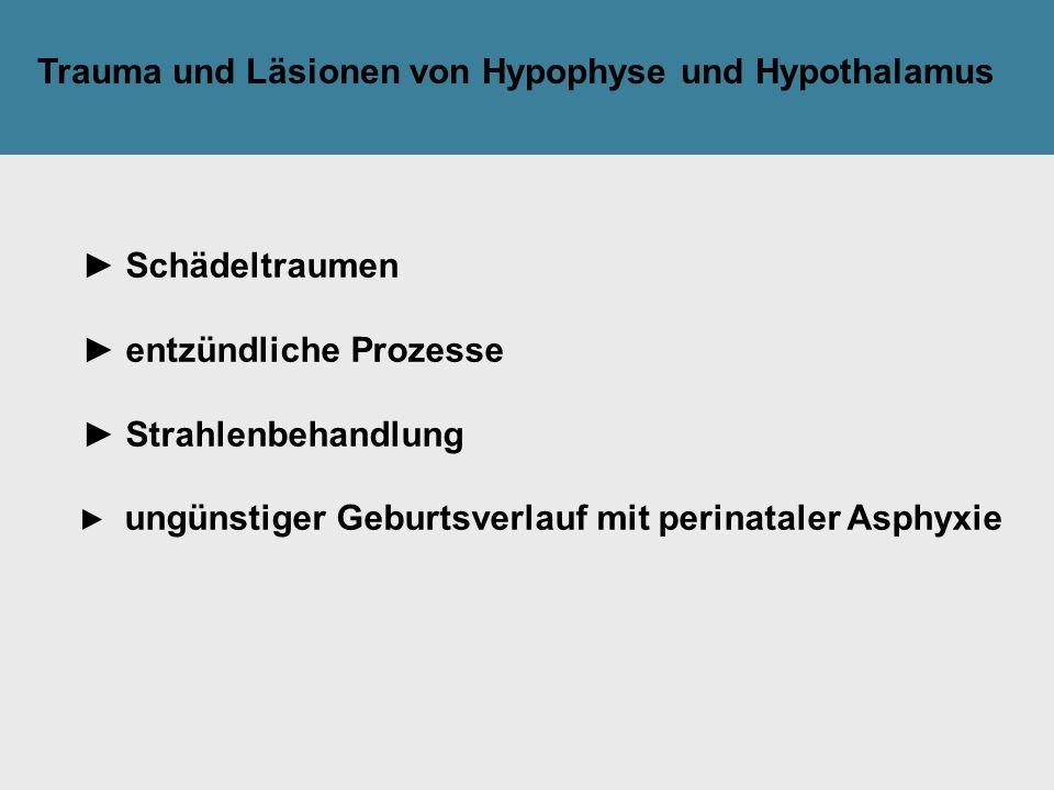 Tilak GsmbH: Trauma und Läsionen von Hypophyse und Hypothalamus ► Schädeltraumen ► entzündliche Prozesse ► Strahlenbehandlung ► ungünstiger Geburtsver