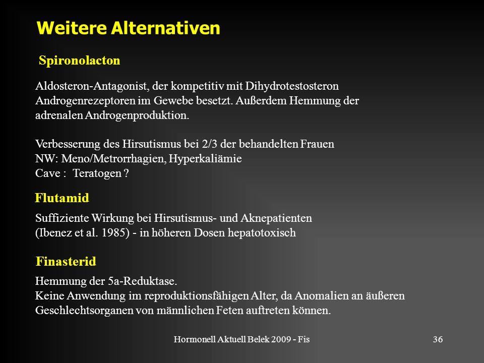 Hormonell Aktuell Belek 2009 - Fis36 Weitere Alternativen Flutamid Suffiziente Wirkung bei Hirsutismus- und Aknepatienten (Ibenez et al.