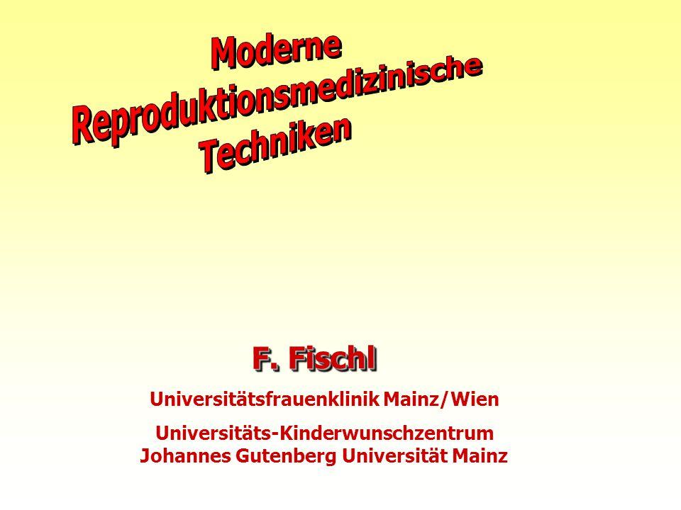 F. Fischl Universitätsfrauenklinik Mainz/Wien Universitäts-Kinderwunschzentrum Johannes Gutenberg Universität Mainz