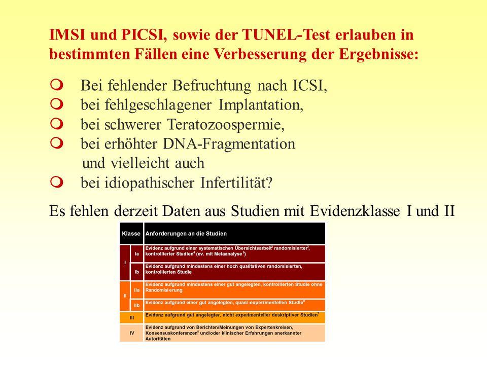 10.08.2015FIS Repromed - Gran Canaria 0813 IMSI und PICSI, sowie der TUNEL-Test erlauben in bestimmten Fällen eine Verbesserung der Ergebnisse:  Bei