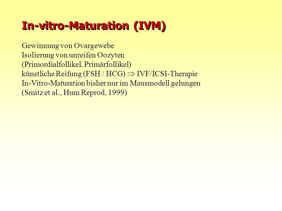 10.08.2015FIS Repromed - Gran Canaria 0830 In-vitro-Maturation (IVM) Gewinnung von Ovargewebe Isolierung von unreifen Oozyten (Primordialfollikel, Pri