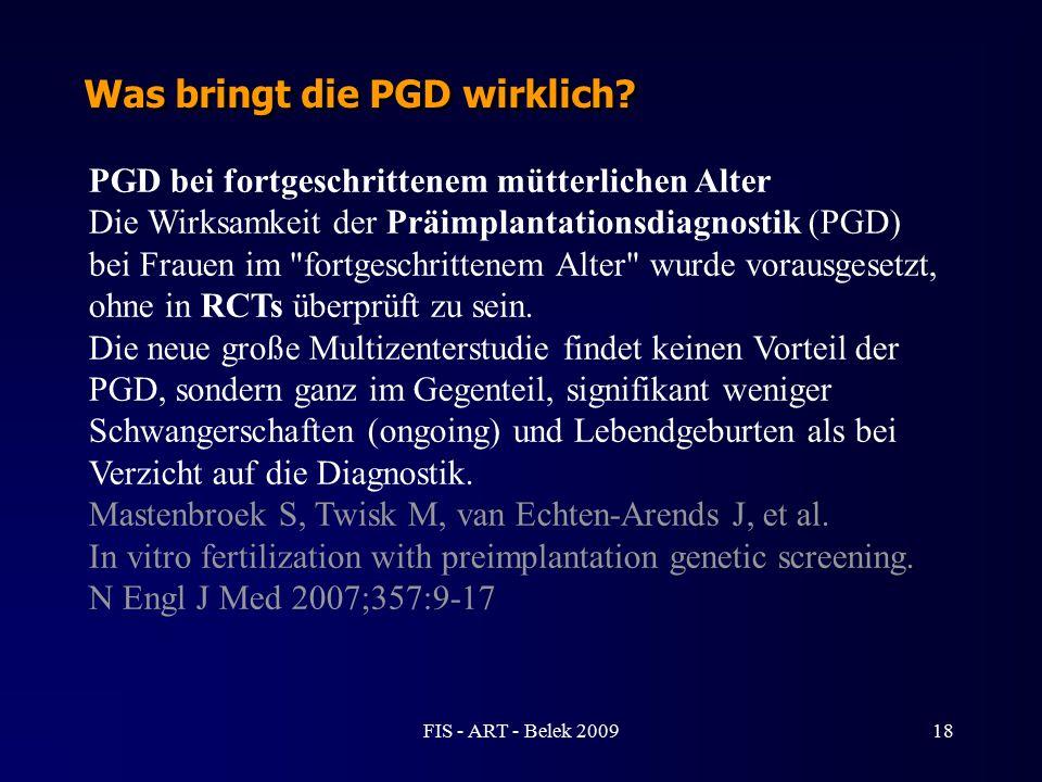 PGD bei fortgeschrittenem mütterlichen Alter Die Wirksamkeit der Präimplantationsdiagnostik (PGD) bei Frauen im