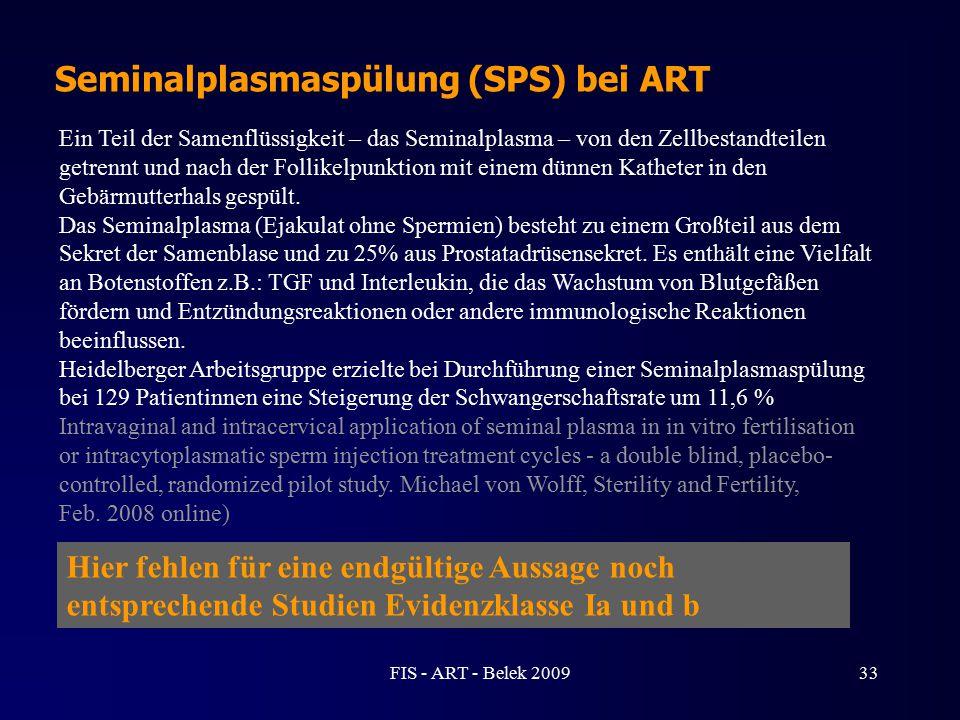 Seminalplasmaspülung (SPS) bei ART Ein Teil der Samenflüssigkeit – das Seminalplasma – von den Zellbestandteilen getrennt und nach der Follikelpunktio