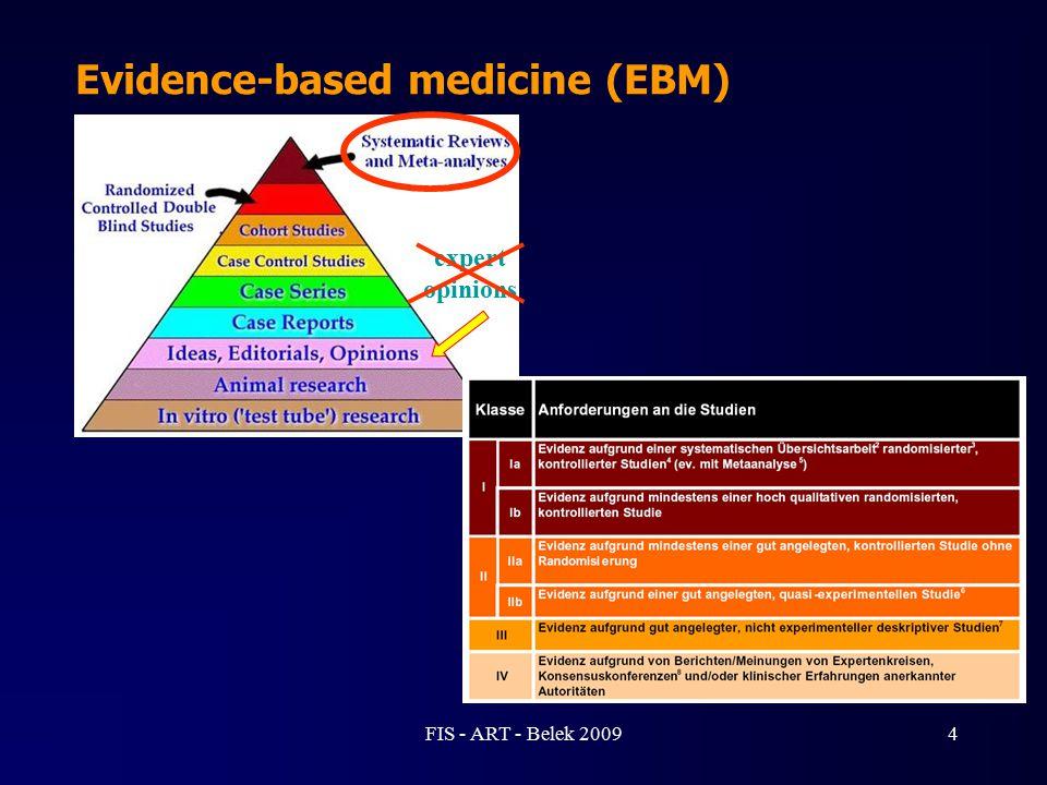 Evidence-based medicine (EBM) expert opinions 4FIS - ART - Belek 2009