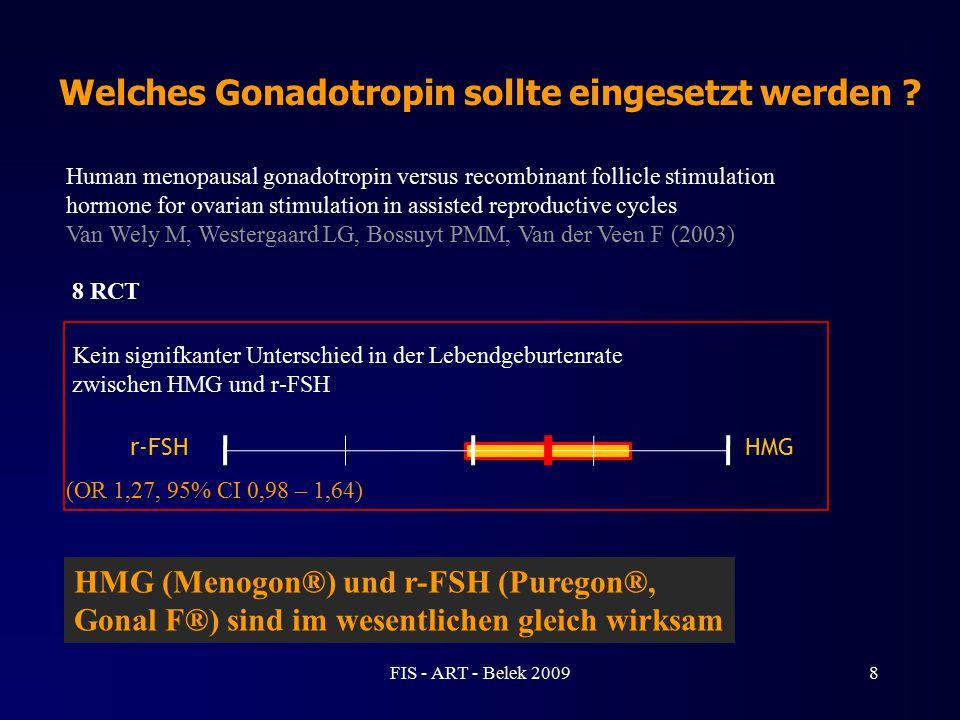 Welches Gonadotropin sollte eingesetzt werden ? Human menopausal gonadotropin versus recombinant follicle stimulation hormone for ovarian stimulation