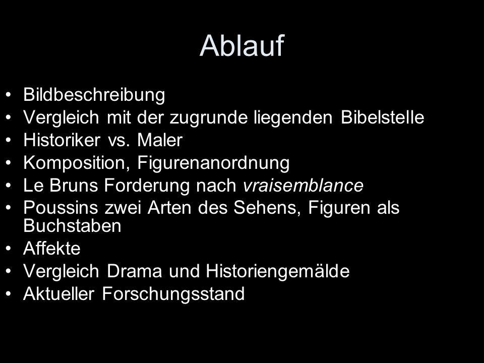 """Textstelle aus Le Bruns Akademierede zum Verhältnis zwischen Historiker und Maler """"A cela M."""