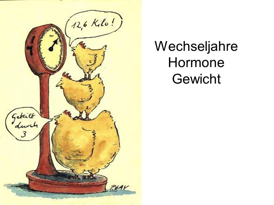 Gewichtsentwicklung  Beobachtungsstudie USA  156 gesunde prämenopausale Frauen ≥ 43 Jahre  Jährliche Messungen: –Körperzusammensetzung –Fettverteilung (DXA,CT) –Fettfreie Masse ohne Knochen –Energieverbrauch –Ernährungszusammensetzung –Stoffwechselparameter Lovejoy et al.