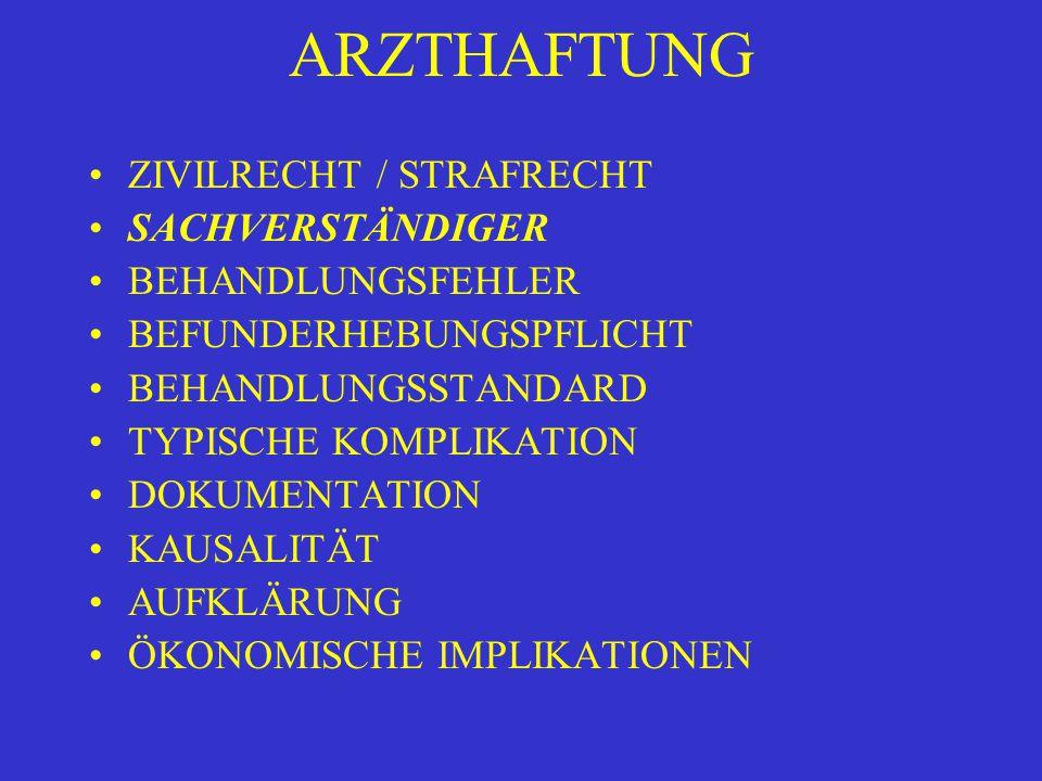 ARZTHAFTUNG ÖKONOMISCHE IMPLIKATIONEN HAFTPFLICHT-VERSICHERUNG DECKUNGSSUMME RÜCKSTELLUNGEN UND PRÄMIENERHÖHUNGEN VERLAGERUNG VON LASTEN AUF LEISTUNGSERBRINGER STRATEGIEN DER KRANKENVERSICHERER