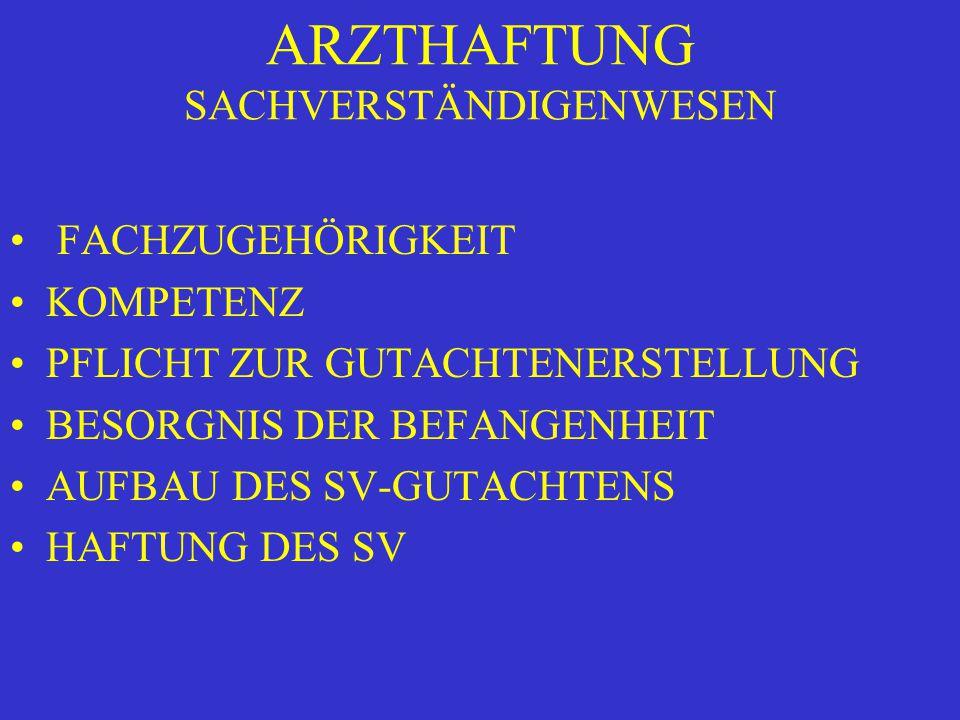 ARZTHAFTUNG TYPISCHE KOMPLIKATION...