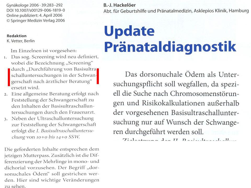 Qualitätskriterien und Haftungsrisiken der sonographischen Pränataldiagnostik.