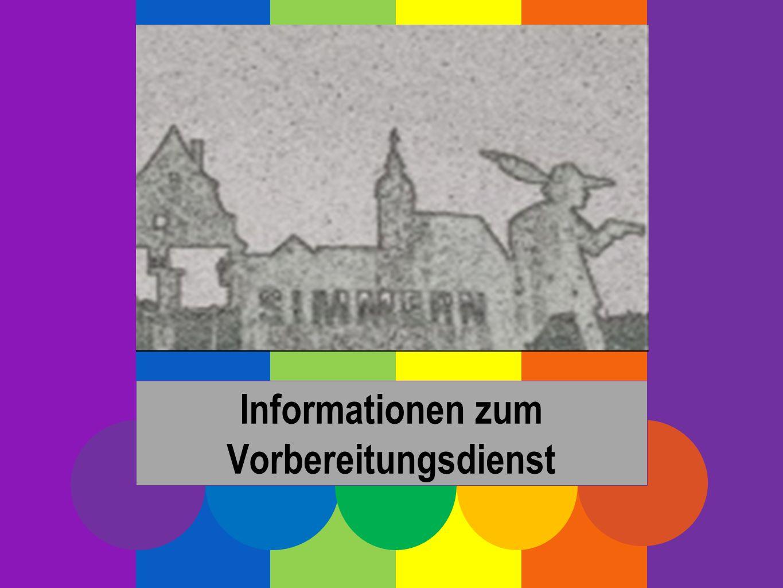 Informationen zum Vorbereitungsdienst