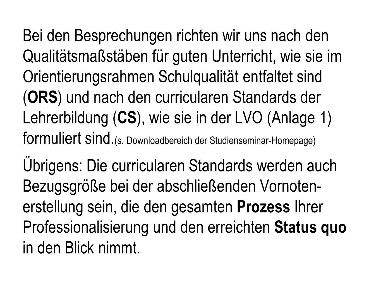 6. Die Unterrichtsbesuche Funktionen des schriftlichen Unterrichtsentwurfs  Zusammenfassung des Planungsprozesses  Vorstellung des Vorhabens: strukt