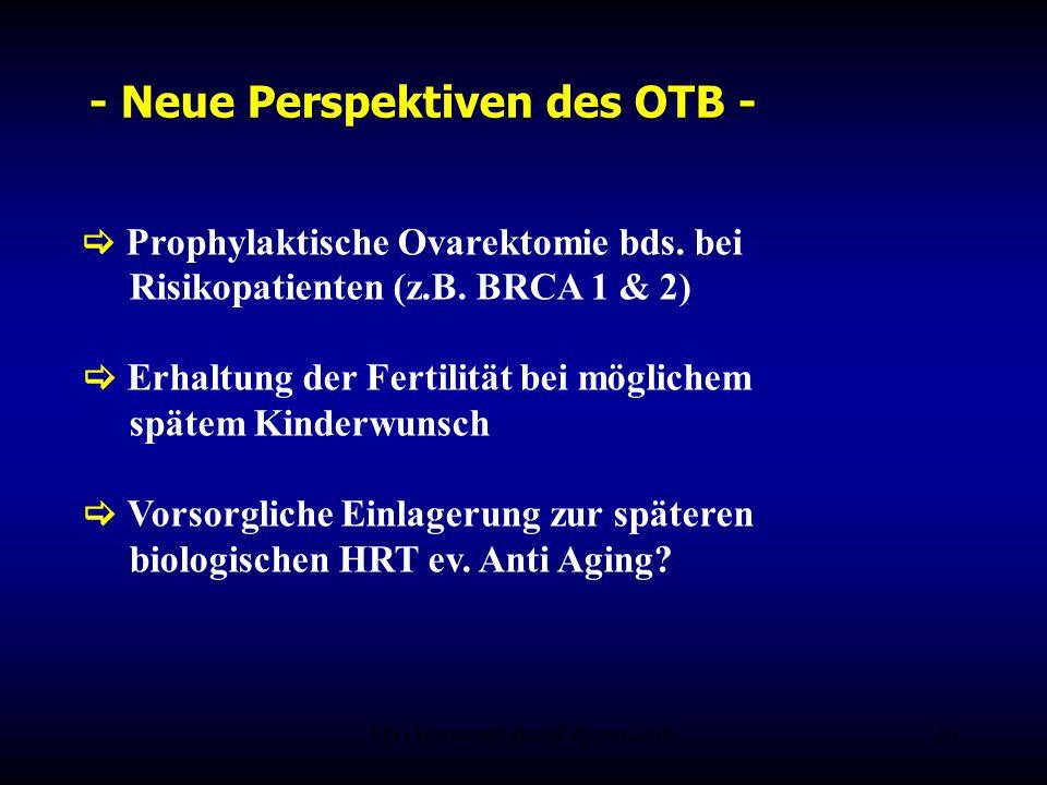 FIS - Hormonell aktuell Zypern 200626 - Neue Perspektiven des OTB -  Prophylaktische Ovarektomie bds. bei Risikopatienten (z.B. BRCA 1 & 2)  Erhaltu