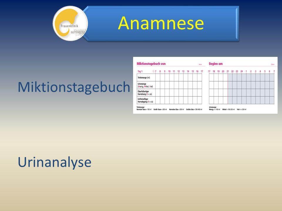 Miktionstagebuch Urinanalyse Anamnese