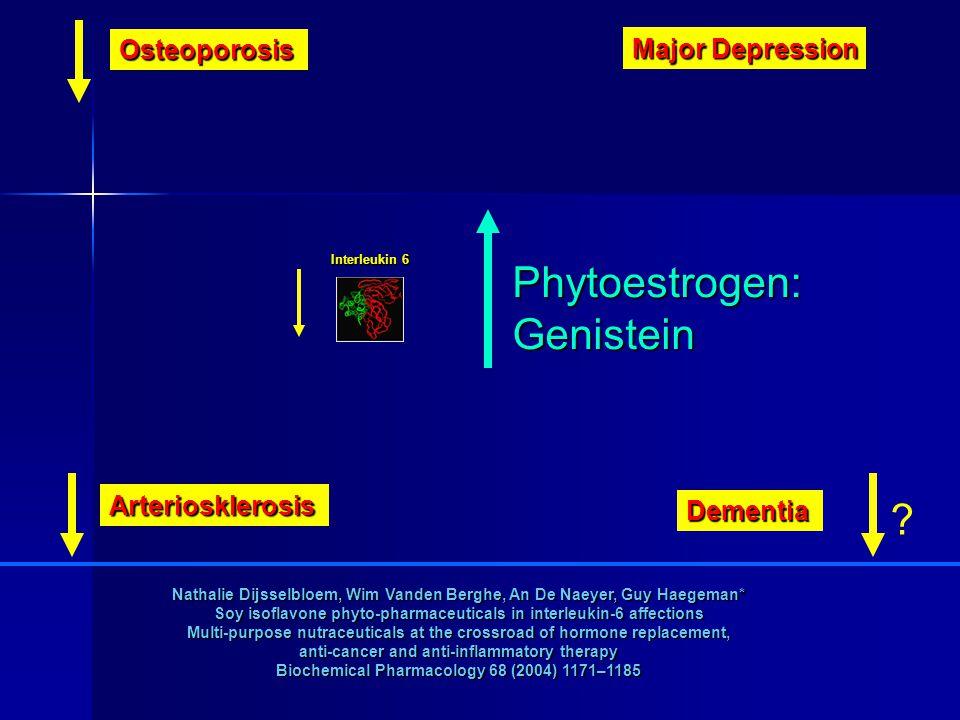 Strukturähnlichkeit von Östrogen und Isoflavonen