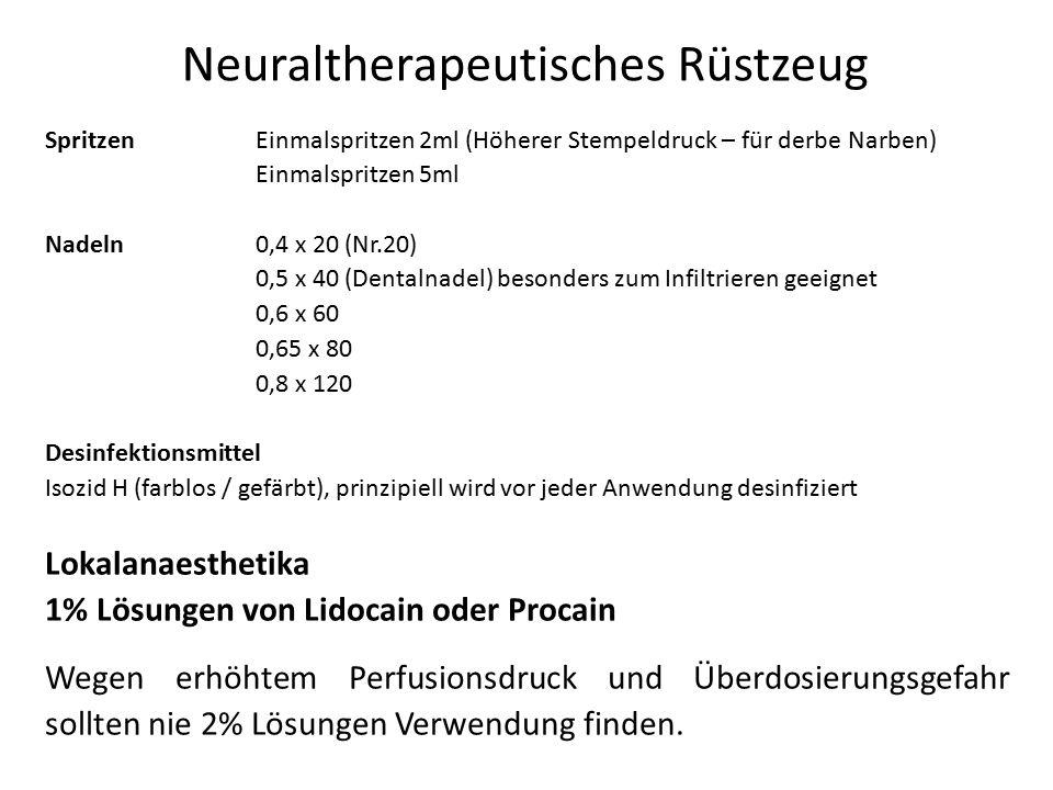 Neuraltherapeutisches Rüstzeug SpritzenEinmalspritzen 2ml (Höherer Stempeldruck – für derbe Narben) Einmalspritzen 5ml Nadeln0,4 x 20 (Nr.20) 0,5 x 40