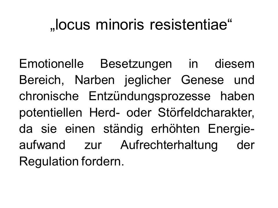 """""""locus minoris resistentiae"""" Emotionelle Besetzungen in diesem Bereich, Narben jeglicher Genese und chronische Entzündungsprozesse haben potentiellen"""