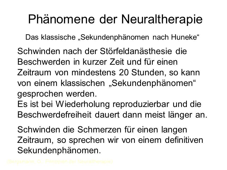 """Phänomene der Neuraltherapie Das klassische """"Sekundenphänomen nach Huneke"""" Schwinden nach der Störfeldanästhesie die Beschwerden in kurzer Zeit und fü"""