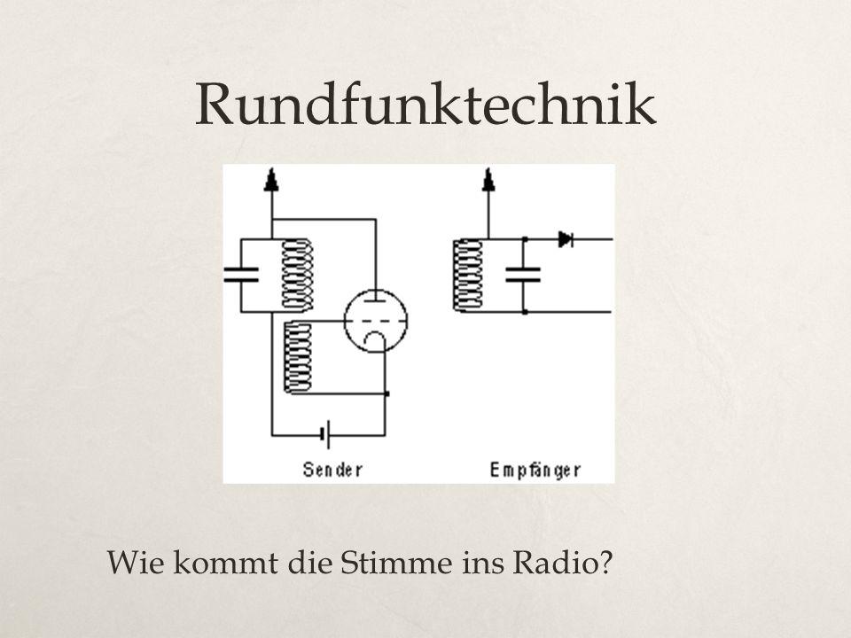 Rundfunktechnik Wie kommt die Stimme ins Radio?