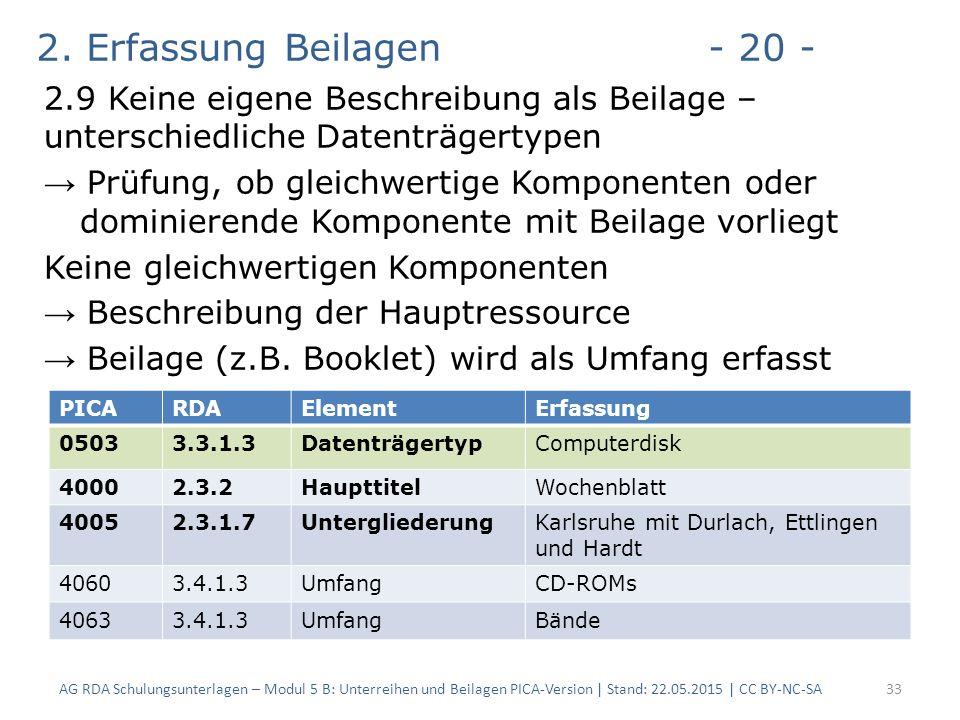 2. Erfassung Beilagen- 20 - 2.9 Keine eigene Beschreibung als Beilage – unterschiedliche Datenträgertypen → Prüfung, ob gleichwertige Komponenten oder