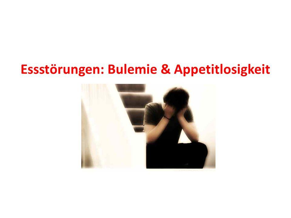 Essstörungen: Bulemie & Appetitlosigkeit