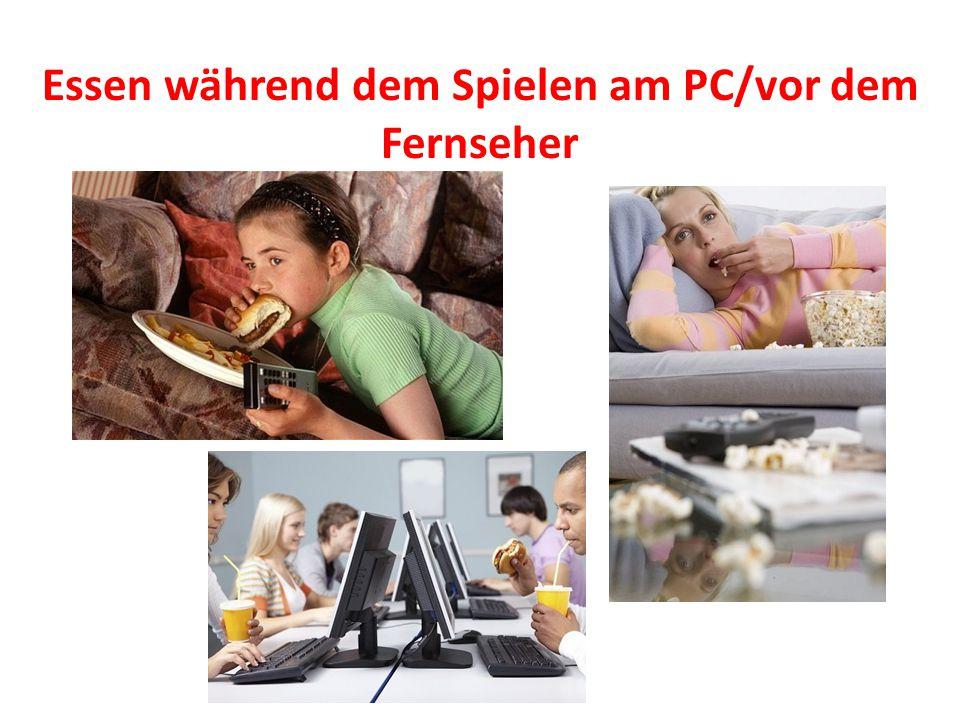 Essen während dem Spielen am PC/vor dem Fernseher
