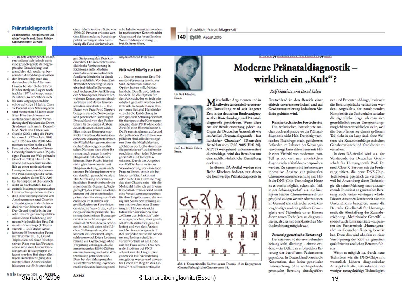 13 Stand: 01/2009© Labor eiben glaubitz (Essen)