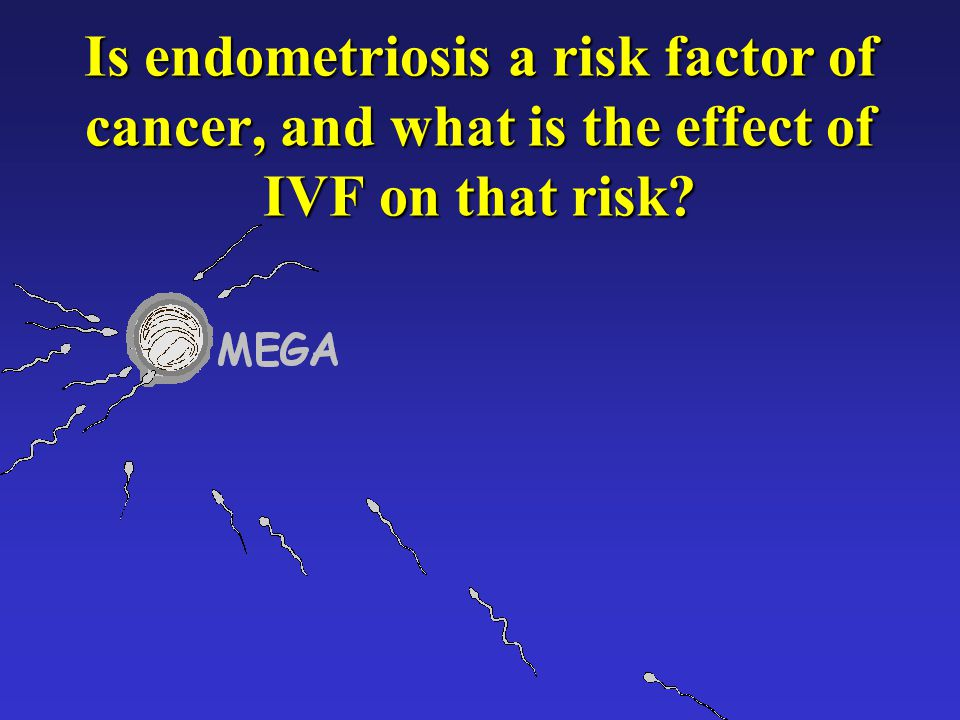Is endometriosis a risk factor of cancer, and what is the effect of IVF on that risk?