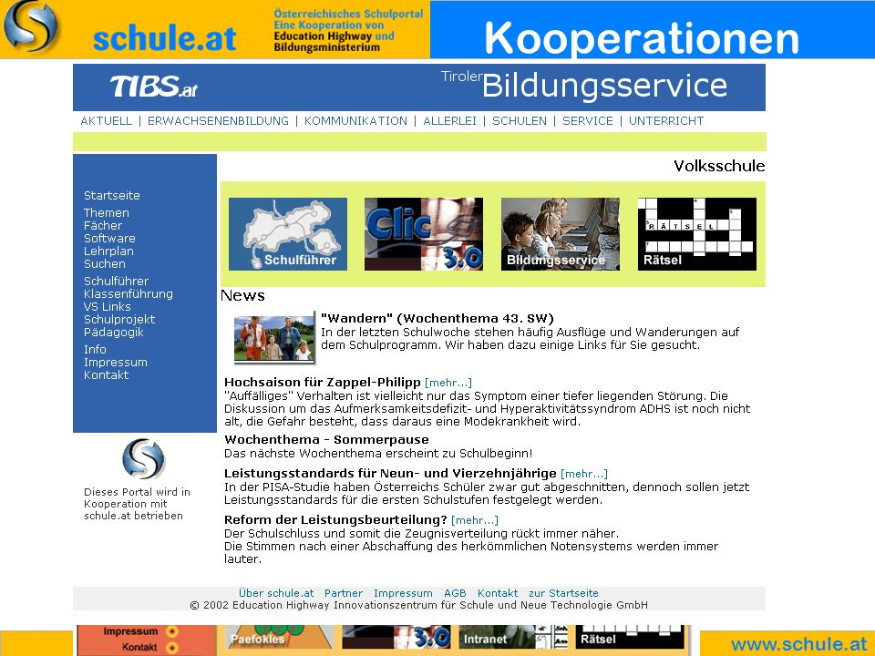 www.schule.at Kooperationen