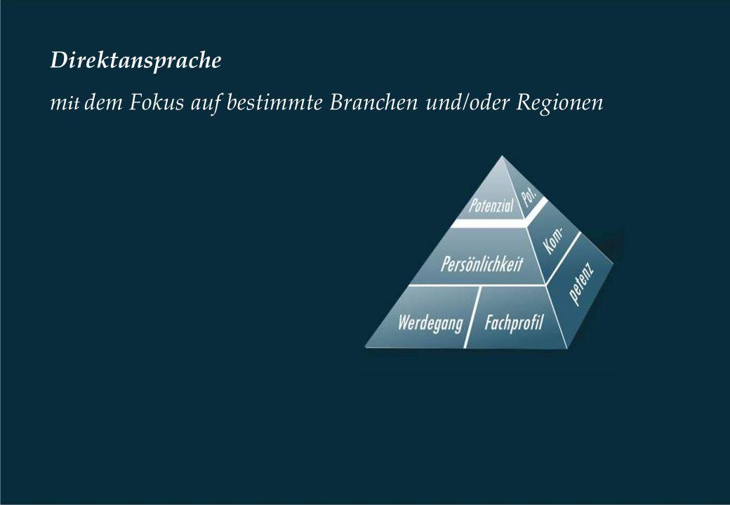 Direktansprache m it dem Fokus auf bestimmte Branchen und/oder Regionen