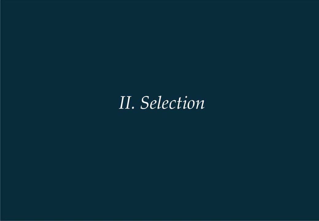 II. Selection