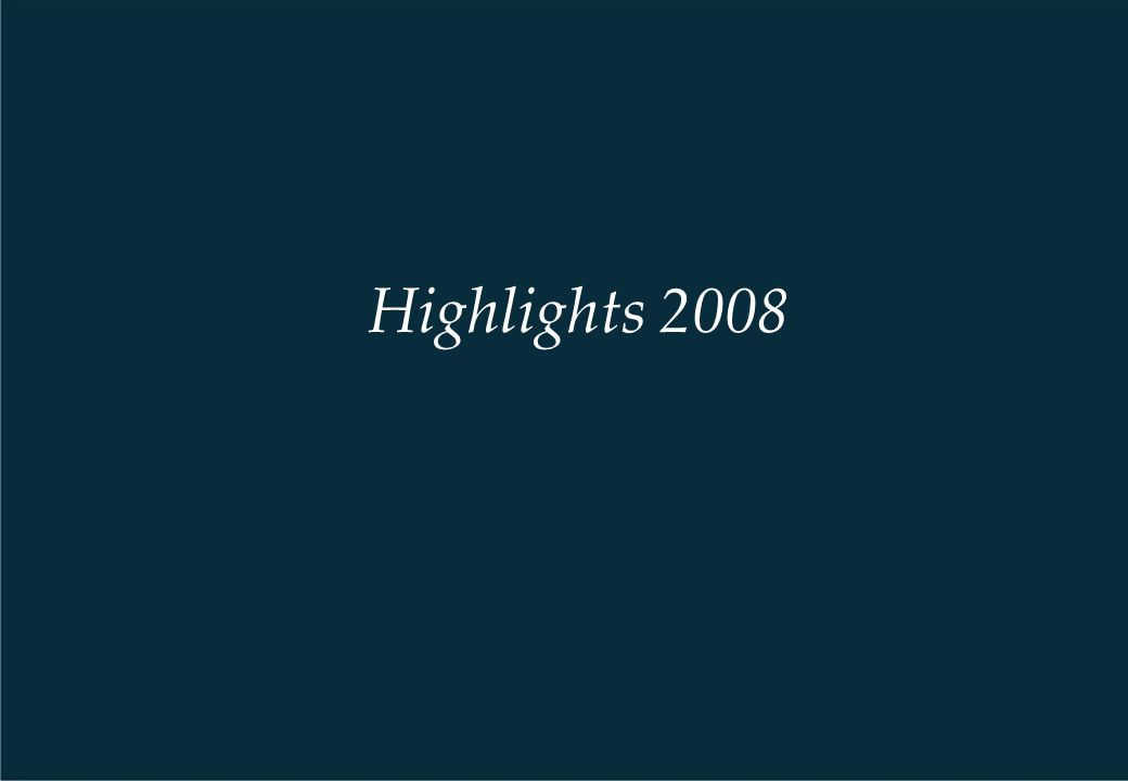 Highlights 2008