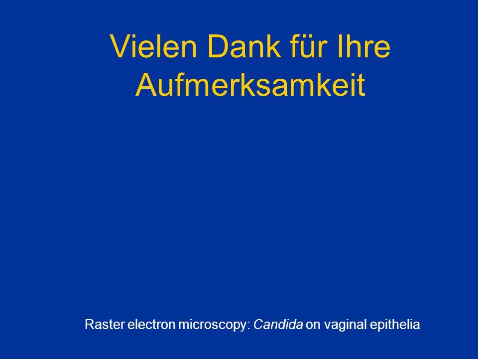 Vielen Dank für Ihre Aufmerksamkeit Raster electron microscopy: Candida on vaginal epithelia