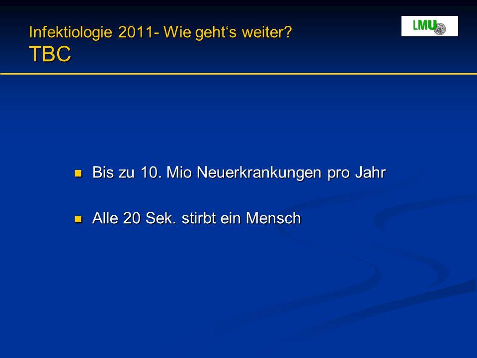 Infektiologie 2011- Wie geht's weiter. TBC Bis zu 10.