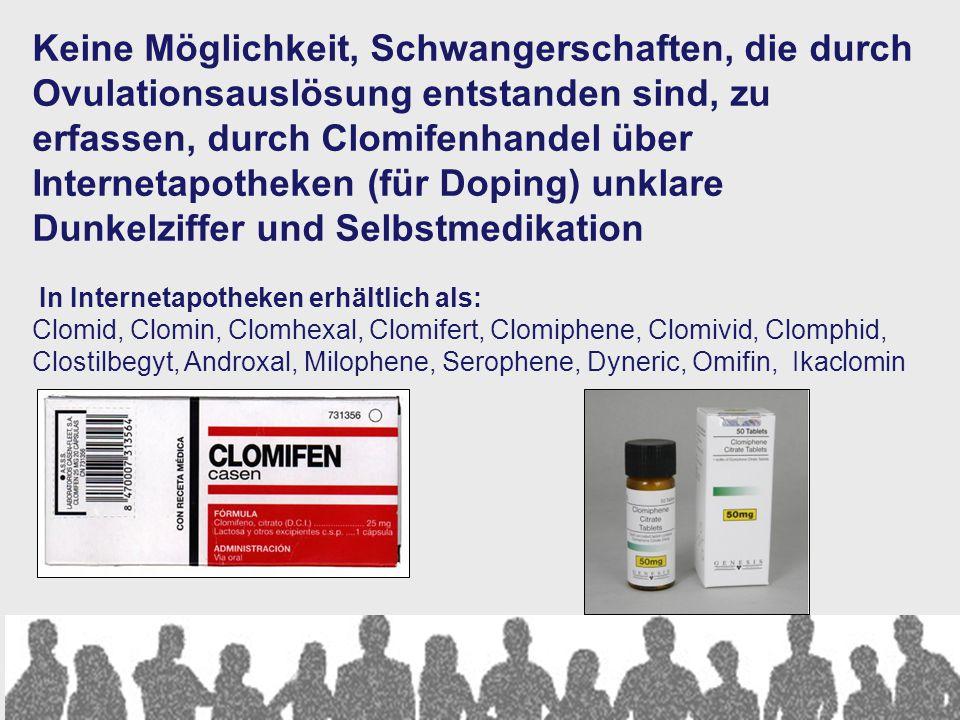 Österreich 2010: 75.090 Einlingsgeburten 1.394 Mehrlingsgeburten Total ÖBasis 1971 IVF Fonds unklar Zwi1361728145488 Dri 30 3 7 20 Vier 2 0,1 0 2