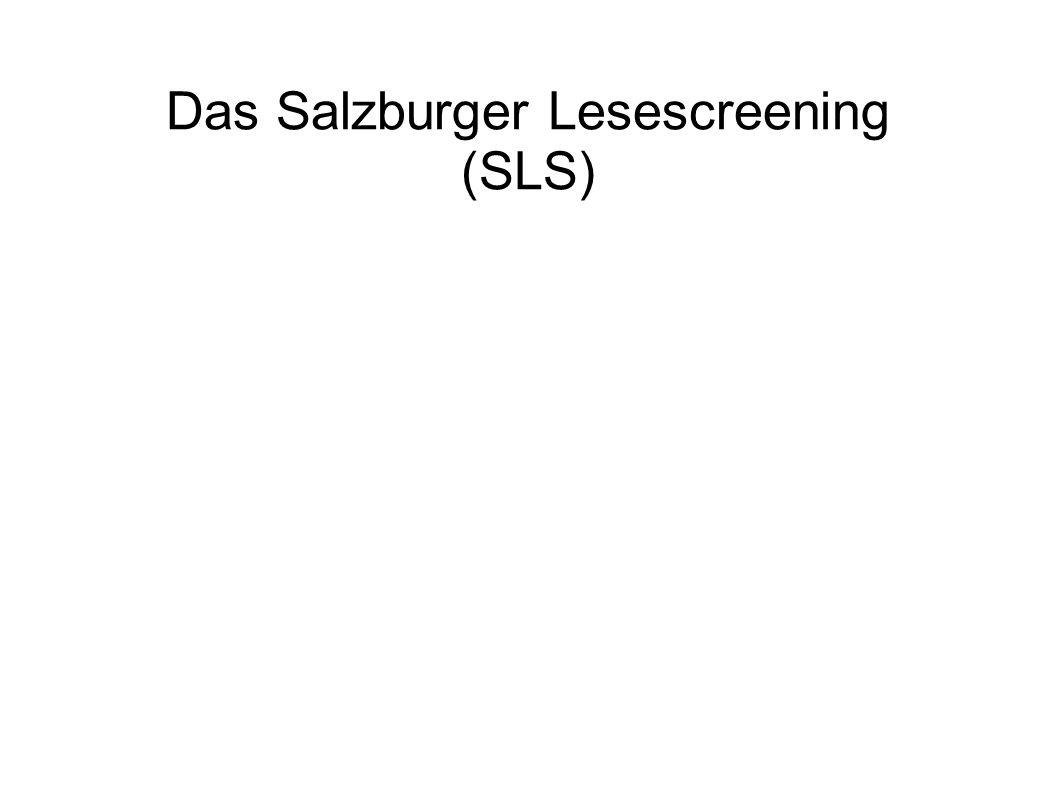 Das Salzburger Lesescreening (SLS)