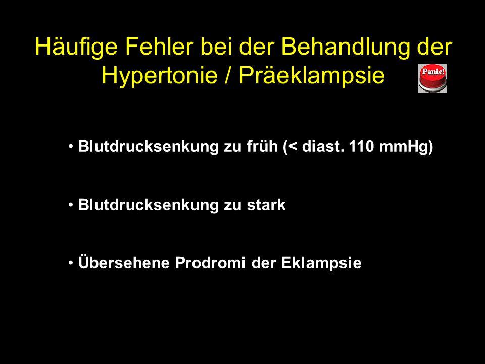 Häufige Fehler bei Tokolyse mit Fenoterol Cave: Tokolyse bei IUGR Cave: Mehrlingsschwangerschaft, Herzkrankheit Volumen overload (Flüssigkeitsrestrikt