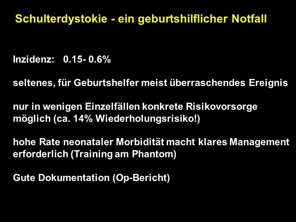 Häufige Fehler der Geburtsleitung Zu optimistische Höhenstandsbeurteilung TRIAS: guter fetaler und mütterlicher Zustand + Geburtsfortschritt!! Turnakr