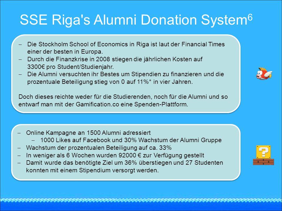 SSE Riga's Alumni Donation System 6  Die Stockholm School of Economics in Riga ist laut der Financial Times einer der besten in Europa.  Durch die F