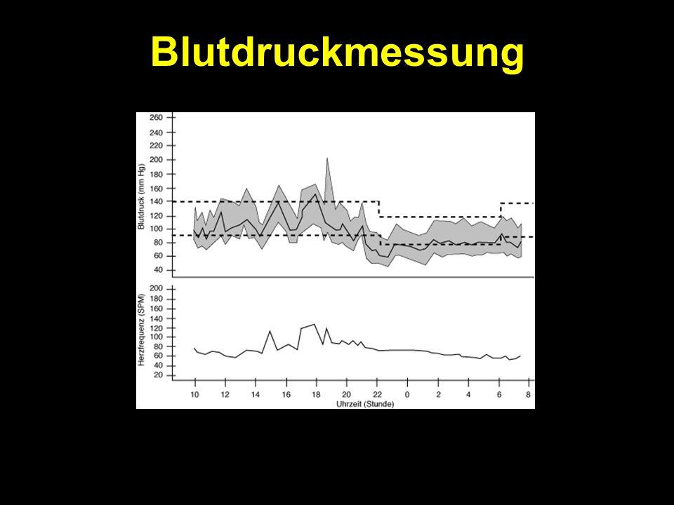 Blutdruckmessung Diastolischer Druck nach Korotkoff 5 (Verschwinden des Tones) oder K4 (Leiserwerden), wenn K5 nicht messbar ist in Ruhe weitere Abklä