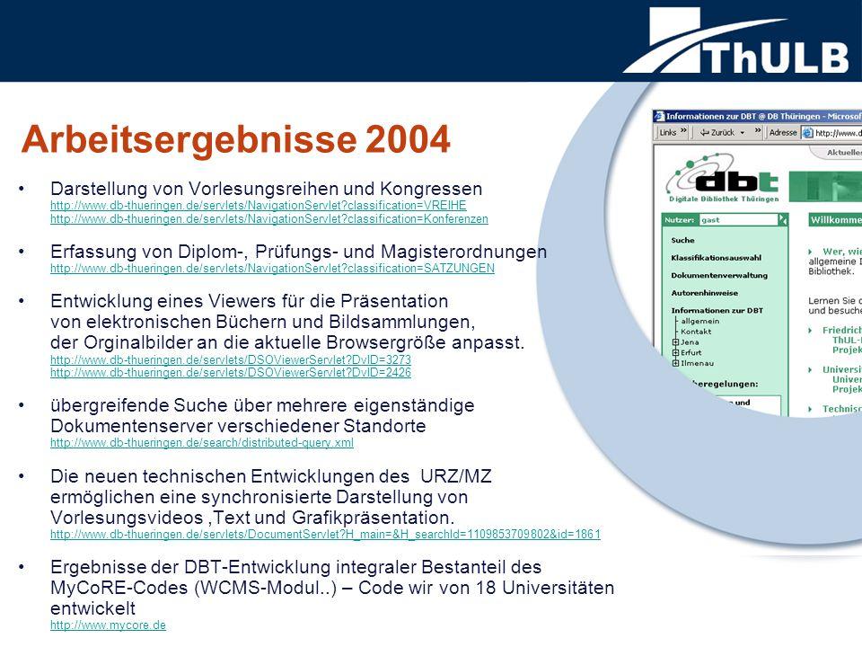 Darstellung von Vorlesungsreihen und Kongressen http://www.db-thueringen.de/servlets/NavigationServlet?classification=VREIHE http://www.db-thueringen.de/servlets/NavigationServlet?classification=VREIHE http://www.db-thueringen.de/servlets/NavigationServlet?classification=Konferenzen Erfassung von Diplom-, Prüfungs- und Magisterordnungen http://www.db-thueringen.de/servlets/NavigationServlet?classification=SATZUNGEN http://www.db-thueringen.de/servlets/NavigationServlet?classification=SATZUNGEN Entwicklung eines Viewers für die Präsentation von elektronischen Büchern und Bildsammlungen, der Orginalbilder an die aktuelle Browsergröße anpasst.