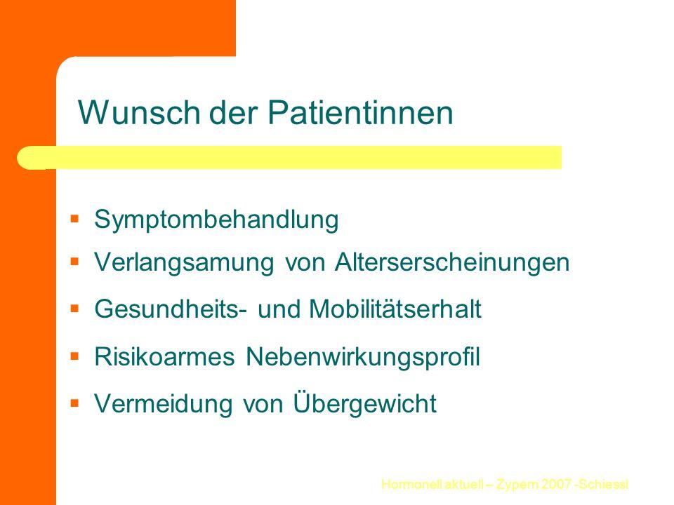 Hormonell aktuell – Zypern 2007 -Schiessl Offene Fragen .