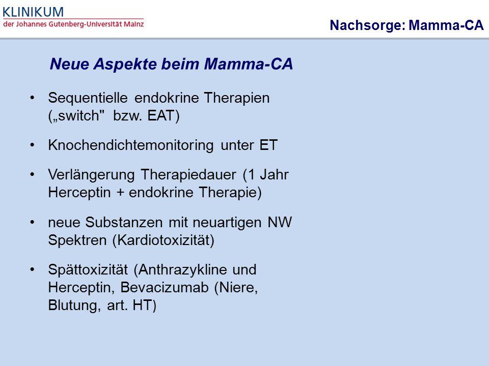 """Nachsorge: Mamma-CA Sequentielle endokrine Therapien (""""switch"""
